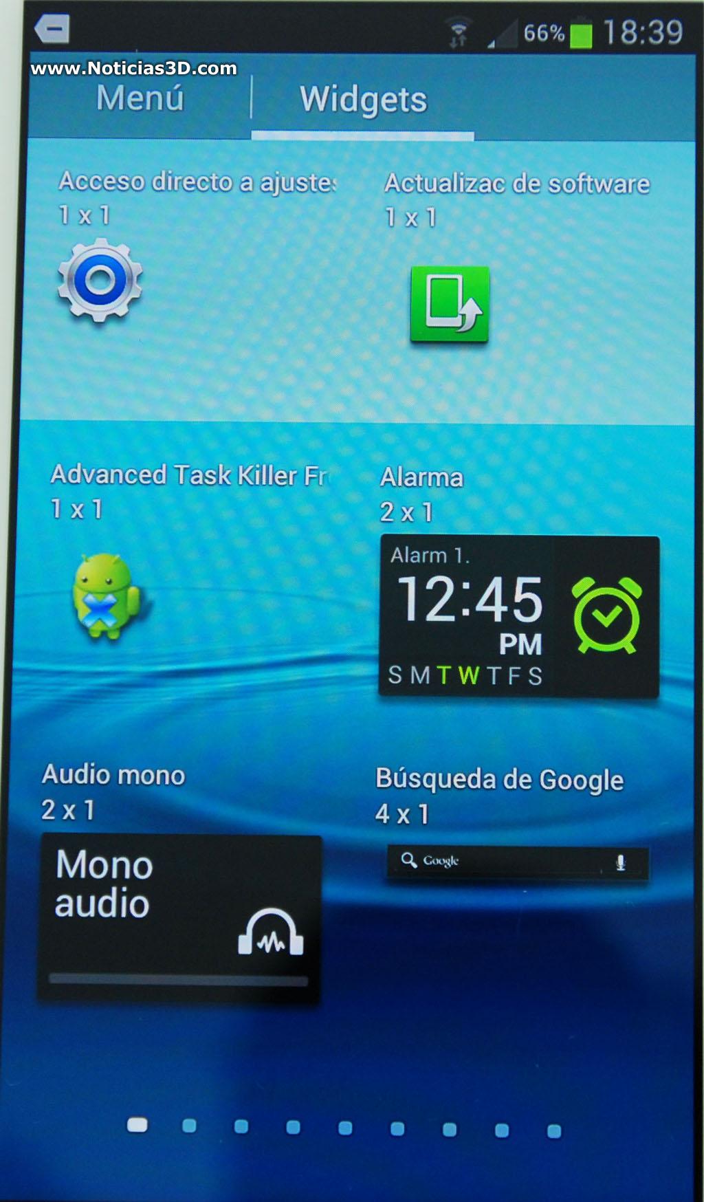 Samsung galaxy siii for Widget clima samsung