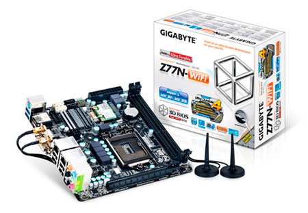 Gigabyte z77n-WiFi, Ivy Bridge en mini