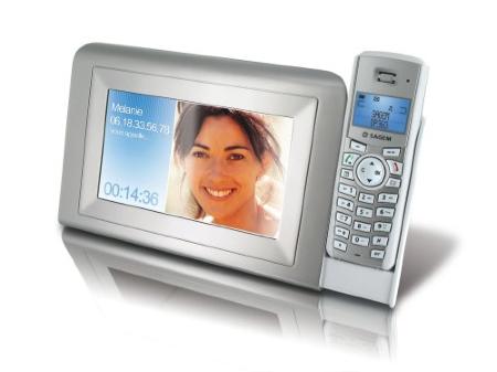 Sagem combina marco digital y teléfono fijo