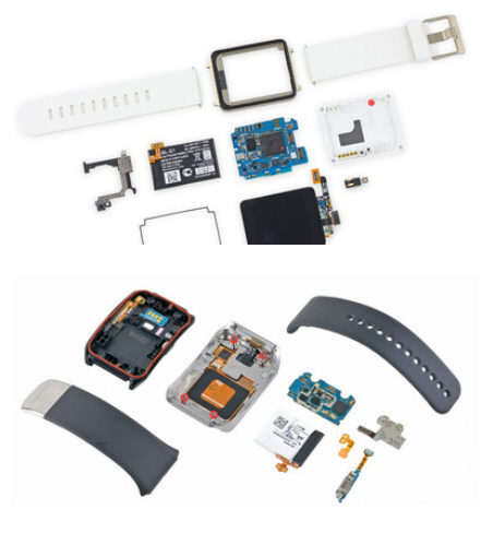 Ifixit despieza los dos smartwatch del momento lg g watch for Despiece smart