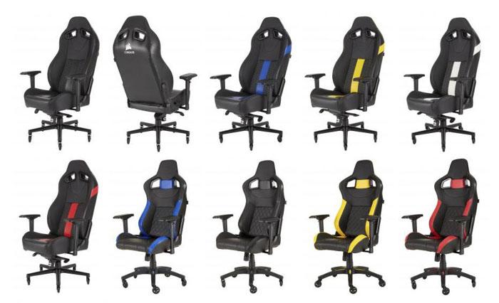 Corsair presenta las nuevas sillas para gaming T2 Road Warrior y T1 Race  Gaming